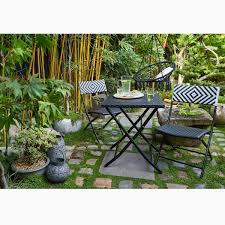 Jardin Zen Et Ethnique Avec Ce Mobilier De Jardin Tressé Noir Et