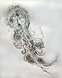 Lady Of Grace Compassion Healing Sacred Tattoo Design