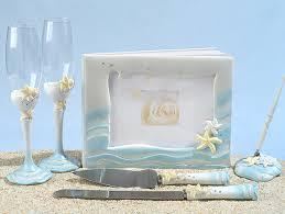 Starfish Design Beach Wedding Accessory Set