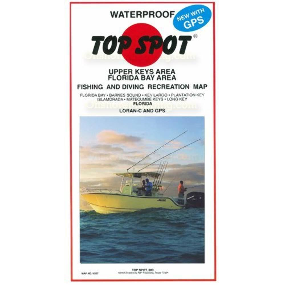 Top Spot Fishing Map N207, Florida Bay - Upper Keys Area