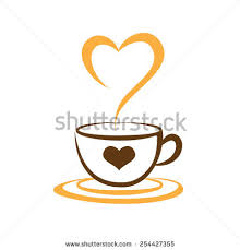 Heart Of Love Coffee Cup Symbol Icon Vector Illustration