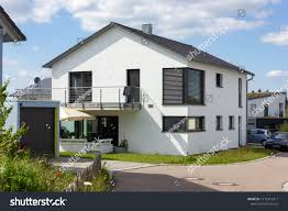 100 Modern Rural Architecture House Countryside Springtime Stock
