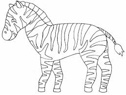 Detail Coloring Pages Of Zebra