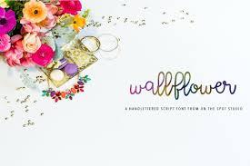 100 Wallflower Designs Wallflower Lowercase Script Fonts Creative Market
