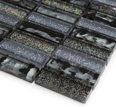 grau schwarz glas glitzer mosaik fliesen tabelle f r w nde b den badezimmer k che sle approx 6cm x 6cm