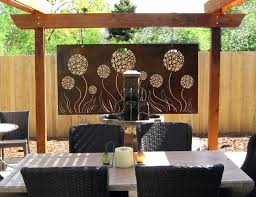 Steel art patio contemporary with metal art privacy screen patio