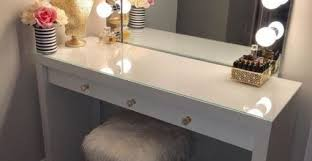 Diy Vanity Desk With Lights by Vanity Table With Lights Around Mirror Archives Beautiful Home Ideas
