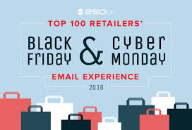 Black Friday And Cyber Monday Top 100 Retailers Black Friday Cyber Monday Email Experience