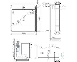 sidler badezimmer spiegelschrank econom 60 cm weiss