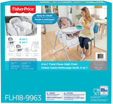 Fisher-Price 4-in-1 Total Clean High Chair, Grey