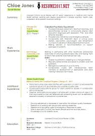 Social Service Resume Template Templates Work Word