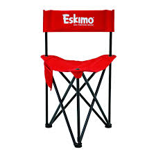 Clam Ice Fishing Seats by Amazon Com Eskimo Folding Ice Chair Standard Or Xl Sports