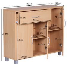 finebuy design sideboard jerry 90 x 75 x 30 cm schränkchen mit 1 schublade 3 türen moderne schlafzimmer kommode anrichte esszimmer schmaler