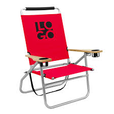 High Boy Beach Chairs With Canopy by Logo Brands