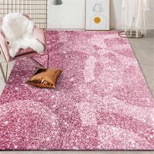 rosa lila diamant glitter muster teppich mädchen schlafzimmer dekoration nacht pad wohnzimmer teppich moderne küche teppich waschbar teppich
