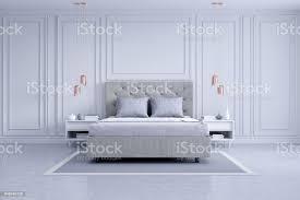 moderne und klassische schlafzimmer innenarchitektur weiß und grau raumkonzept haus dekoideen 3drendering stockfoto und mehr bilder architektur