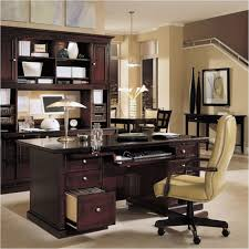 Wooden Home Office Desk Mesmerizing Space Design Presented With Black