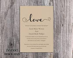 DIY Burlap Wedding Invitation Template Editable Word File Download Printable Rustic Heart Elegant Love Invite