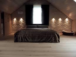 mit steinwand wohnen zimmer schlafzimmer