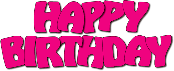Happy birthday pink birthday clipart