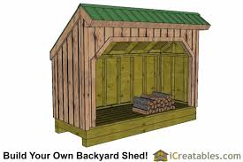 firewood storage shed lean to shed backyard shed plans