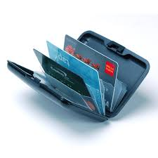 aluminum wallet credit card holder rfid protection light durable
