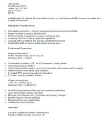 Administrative Assistant Resume Sample No Experience Free Property Administrator Resumes Best 5
