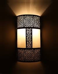 silver moroccan wall light with parchment so pretty
