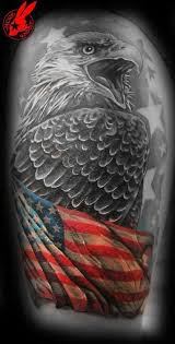 Patriotic Flag Eagle Tattoo By Jackie Rabbit