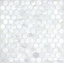 Shower Tile Texture Circle Mother Of Pearl Mosaic Tiles Wall Shinning Accent Kitchen