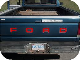 100 Truck Tailgate Decals RED 8793 Ford Pickup Fleetside Bronco Vinyl Letters