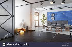100 Modern Loft Interior Design Modern Loft Interior 3d Rendering Design Concept Stock