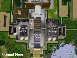 Modern Awesome Design Ideas Sims House Plans Mansion Blueprints On Home 60x60 For Pc Xbox