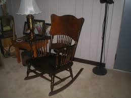 Wood Rocking Chair, Spindle Sides And Partial Spindles On ... Bow Back Chair Summer Studio Conant Ball Rocking Chair Juegomasdificildelmundoco Office Parts Chairs Leg Swivel Rocking High Spindle Caned Seat Grecian Scroll Arm Grpainted 19th Century 564003 American Country Pine Newel North Country 190403984mid Modern Rocker Frame Two Childrens Antique Chairs Cluding Red Painted Spindle Horseshoe Bend Amish Customizable Solid Wood Calabash Assembled