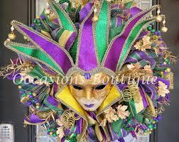 Mardi Gras Mask Door Decoration by Mardi Gras Wreath Mardi Gras Door Swag Mardi Gras