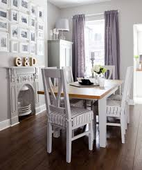 Traditional Small Dining Room With Lilac Accents