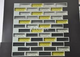 high quality 3d gel mosaic wall tile epoxy paint fancy tile