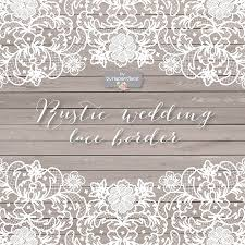 Vector Lace Wedding Border Clipart Illustrations Creative Market