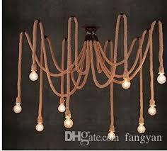 e27 rope drop edison bulbs vintage net spider chandeliers ceiling