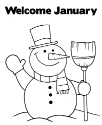 Winter Clothes Coloring Pages To Print January For Adults Welcome Snowman Sports Printable