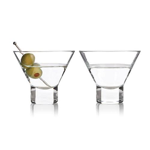 Viski Raye Stemless Martini Glasses - 2 Pack