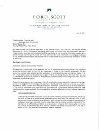 City 2012 audit management letter