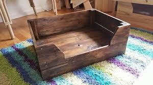 easy to make pallet dog bed pallet furniture diy upcycle