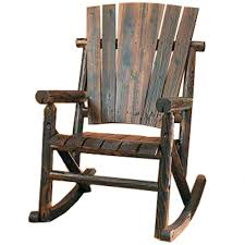 Dark Brown Wooden Rocking Chair