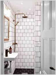 black white bathroom floor tile hexagon tiles home design