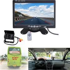 100 Backup Camera For Truck Bus Dashboard 7 LCD Rear View Monitor Night Vision Reverse