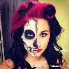 Halloween Half Mask Makeup by Best 25 Half Face Halloween Makeup Ideas On Pinterest Skeleton