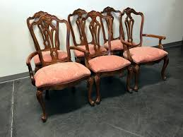 SOLD OUT - CENTURY FURNITURE CO French Country Dining Chairs - Set Of 6 Refinished Painted Vintage 1960s Thomasville Ding Table Antique Set Of 6 Chairs French Country Kitchen Oak Of Six C Home Styles Countryside Rubbed White Chair The Awesome And Also Interesting Antique French Provincial Fniture Attractive For Eight Cane Back Ding Set Joeabrahamco Breathtaking