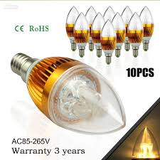 cree led candle light bulb 3w led lights e12 e14 e26 e27 led