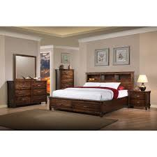 Brown Rustic Classic 6 Piece King Bedroom Set Jessie